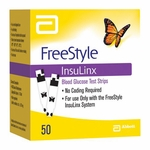 FreeStyle InsuLinx Blood Glucose Test Strips Retail 50ct