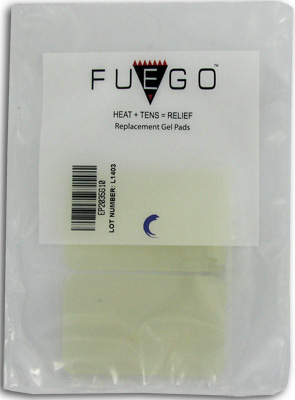 Fuego TENS Unit Electrode Gel Pad 2 x 3.5 in - 4 ea