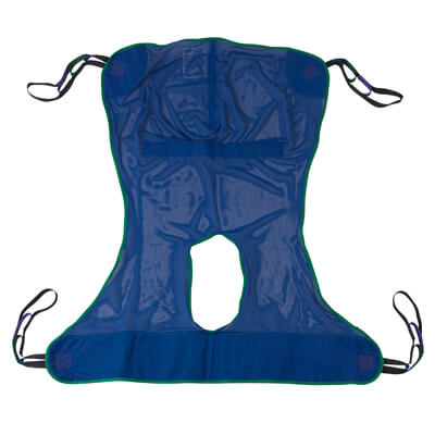 Drive Medical Full Body Patient Lift Sling with Commode Cutout Model 13221l