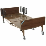 Drive Medical Full Electric Bariatric Hospital Bed with Mattress and T Rails 15300bv-pkg