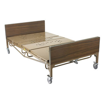 Drive Medical Full Electric Heavy Duty Bariatric Hospital Bed with T Rails and Mattress 15302bv-pkg