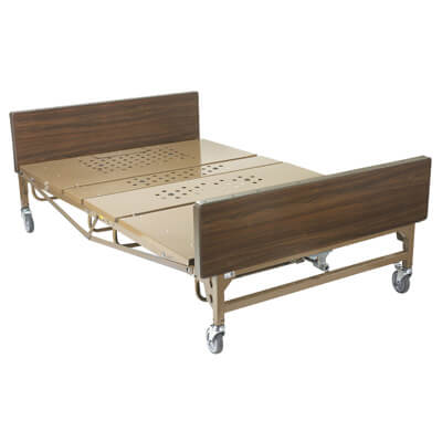 Drive Medical Full Electric Super Heavy Duty Bariatric Hospital Bed with Mattress and T Rails Model 15303bv-pkg
