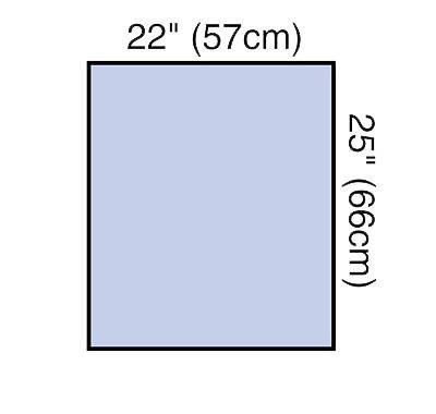 3M General Purpose Drape Steri-Drape Utility Sheet 22 W X 25 L Inch Sterile 1089 - Case of 160