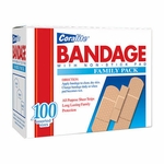Coralite Band-Aid Family Pack - 100 assorted count