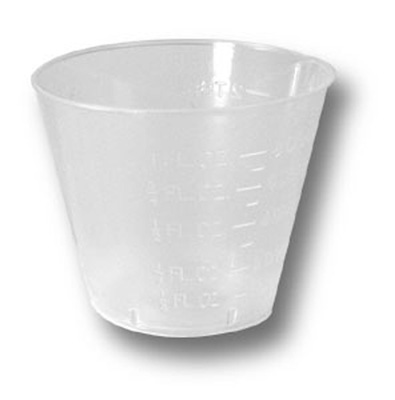 Economy 1 oz. Clear Polypropylene Disposable Graduated Medicine Cup - Case of 5000