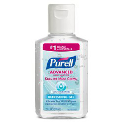 Hand Sanitizer Purell 2 oz. Alcohol (Ethyl) Gel Pump Bottle