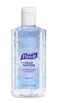 Hand Sanitizer Purell 4.25 oz. Alcohol (Ethyl) Gel Bottle