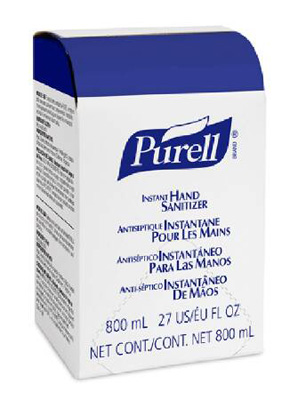 Hand Sanitizer Purell 800 mL Alcohol (Ethyl) Gel Bag-in-Box