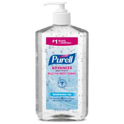 Hand Sanitizer Purell Advanced 20 oz. Alcohol (Ethyl) Gel Pump Bottle