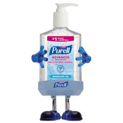 Hand Sanitizer Purell Pal 8 oz. Alcohol (Ethyl) Gel Pump Bottle with Holder