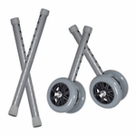 Drive Medical Heavy Duty Bariatric 5 inch Walker Wheels with Extension Legs Model 10118csv