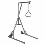 Drive Medical Heavy Duty Silver Vein Trapeze with Base and Wheels Model 13039sv