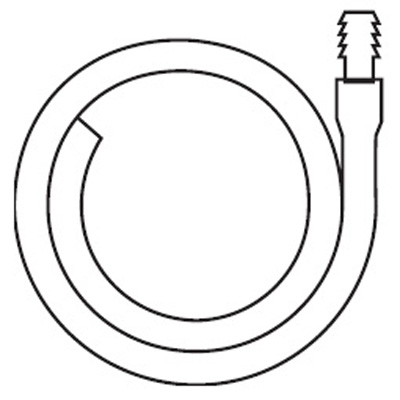 Hollister Extension Tubing 18 in L, 11/32 in ID, Oval, Kink Resistant, With Connector