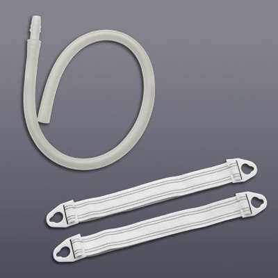 Hollister Extension Tubing 18 in L, 11/32 in ID, Oval, Kink Resistant, With Connector Sterile