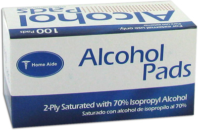 Home Aide Alcohol Pads - 100 Swabs