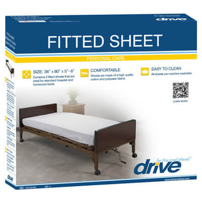 Drive Medical Hospital Bed Fitted Sheets Model 15030hbl