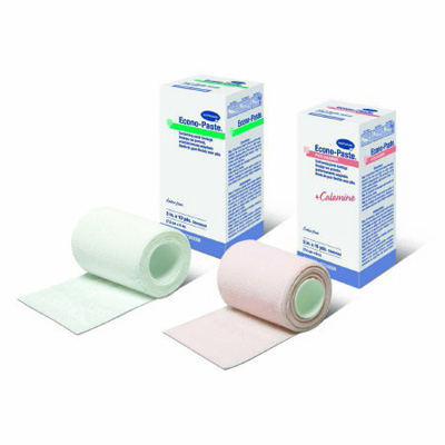 Impregnated Comforming Dressing Econo-Paste Plus 4 Inch X 10 Yard Cotton Zinc Oxide Paste / Calamine NonSterile