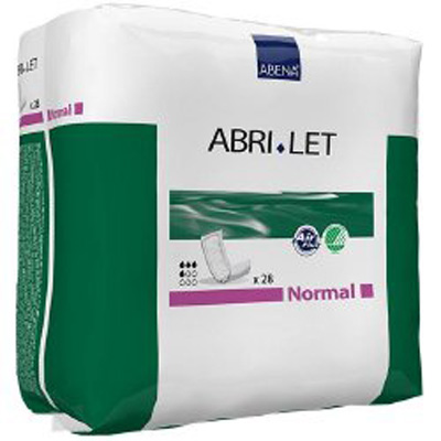 Incontinence Booster Pad Abri-Let Normal 4 X 15 Inch Moderate Absorbency Fluff / Polymer Unisex Disposable