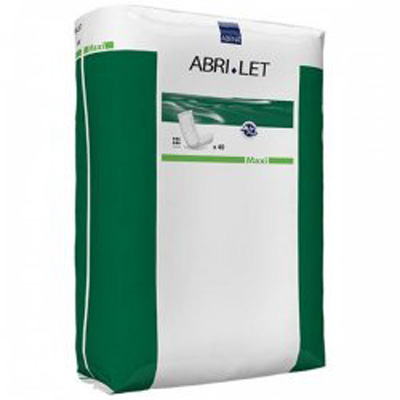 Abri-Let Maxi Incontinence Booster Pad 7 X 24 Inch Moderate Absorbency Fluff / Polymer Unisex Disposable - Case of 120