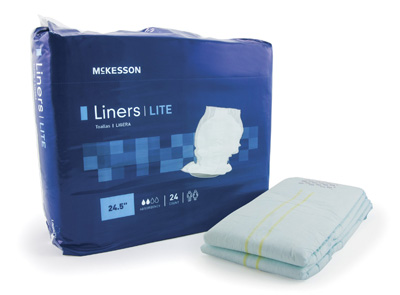 Incontinence Liner McKesson Lite 24-1/2 Inch Length Light Absorbency Polymer Unisex Disposable