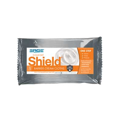 Sage Incontinent Care Wipe Comfort Shield Soft Pack Dimethicone Unscented 3 Count - 7502