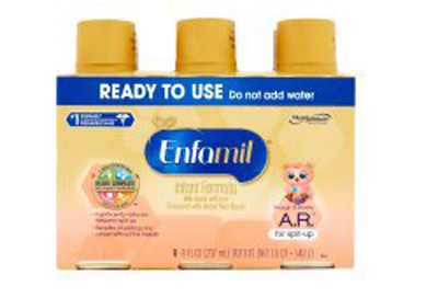 Enfamil A.R. 8 oz. Bottle Ready to Use Infant Formula - Case of 24