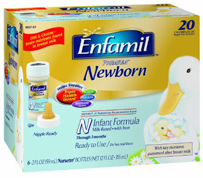 Infant Formula Enfamil Newborn 2 oz. Bottle Ready to Use