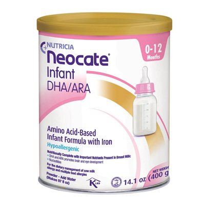 Infant Formula Neocate DHA & ARA 14.1 oz. Can Powder