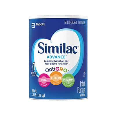 Infant Formula Similac Advance 20 13 oz. Can Ready to Use