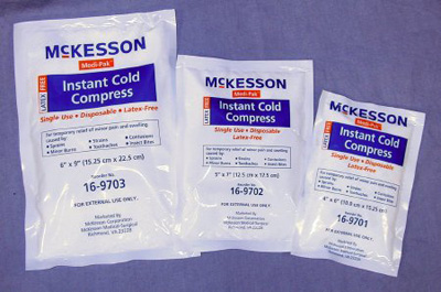 Instant Cold Pack McKesson General Purpose 4 X 6 Inch Disposable
