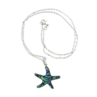 Island Sense Abalone Shell Starfish Necklace
