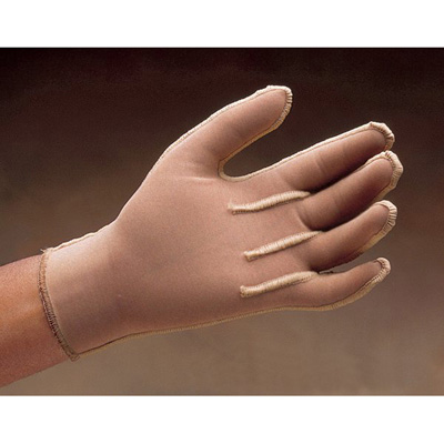Jobst MedicalWear Pre-Sized Compression Glove Full Finger Medium Long Over-the-Wrist Ambidextrous Stretch Fabric
