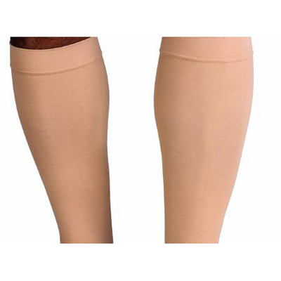 Jobst Relief Compression Stockings, Knee High Large Beige Closed Toe - 20-30 mmHg