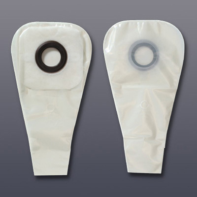 Karaya 5 Colostomy Pouch One-Piece System 12 in Length 7/8 in Stoma Drainable