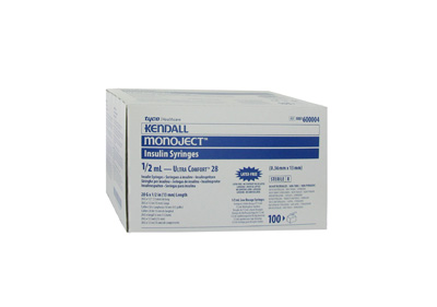 Covidien Monoject Insulin 28 Gauge 1/2 cc 1/2 in (Model 8861600004)