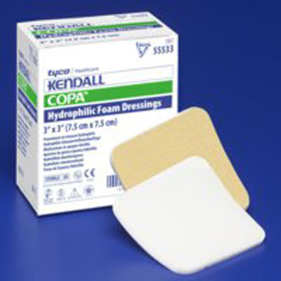 Kendall Foam Dressing 5 x 5 in Square Non-Adhesive without Border Sterile