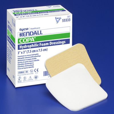 Kendall Foam Dressing Foam Plus 6 x 6 in Square Non-Adhesive without Border Sterile