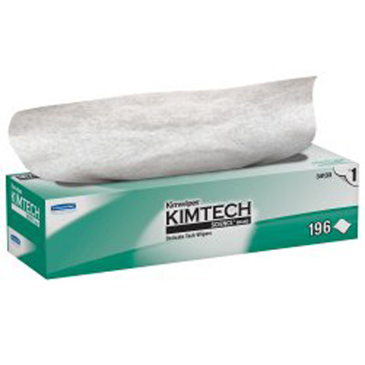 KIMTECH SCIENCE Kimwipes Delicate Task Wipe Light Duty White NonSterile 1 Ply Tissue 11-4/5 X 11-4/5 Inch Disposable