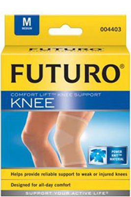 Knee Brace Futuro Comfort Lift Medium Slip-On 25-1/2 to 28 Inch Circumference Left or Right Knee
