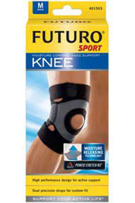 Knee Support Futuro Sport Medium Slip-On 15 to 17 Inch Circumference Left or Right Knee