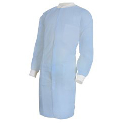 Lab Coat McKesson Blue Small / Medium Long Sleeves Knee Length