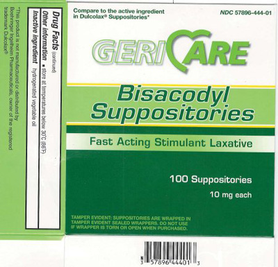 Laxative Geri-Care Suppository 100 per Box 10 mg Strength Bisacodyl