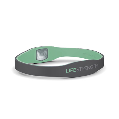 LifeStrength Pure Series Bracelet - Large - Grey/Mint Model # 6630 - 3 pack