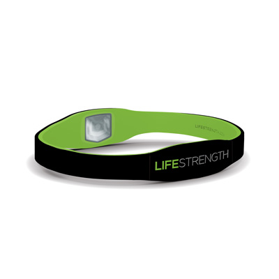 LifeStrength Pure Series Bracelet - Small - Black/Green Model # 6680 - 3 pack