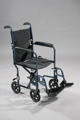 Drive Medical Lightweight Blue Transport Wheelchair Model atc17-bl
