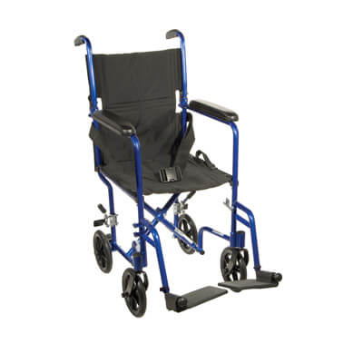 Drive Medical Lightweight Blue Transport Wheelchair atc19-bl