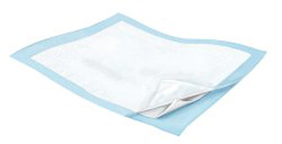 Low Air Loss Underpad Wings Quilted Breathable 23 X 36 Inch Disposable Fluff / Polymer Heavy Absorbency