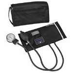 MABIS MatchMates Aneroid Sphygmomanometer Palm Style Hand Held 2-Tube Adult Arm