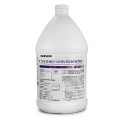 McKesson OPA/28 OPA High Level Disinfectant RTU Liquid 1 gal. Jug Max 28 Day Reuse