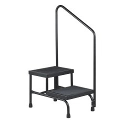McKesson Step Stool Bariatric 2-Step Powder Coated Steel 9 in and 16 Inch